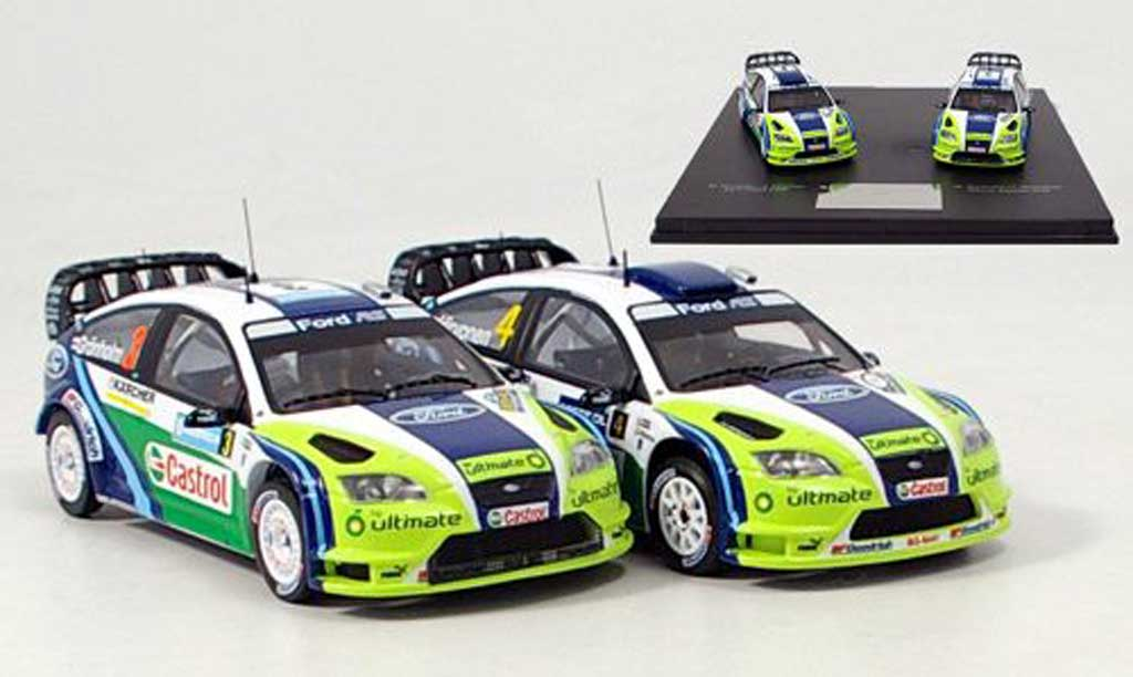 Ford Focus RS WRC 1/43 IXO Set avec zwei Modellen 2006 miniature