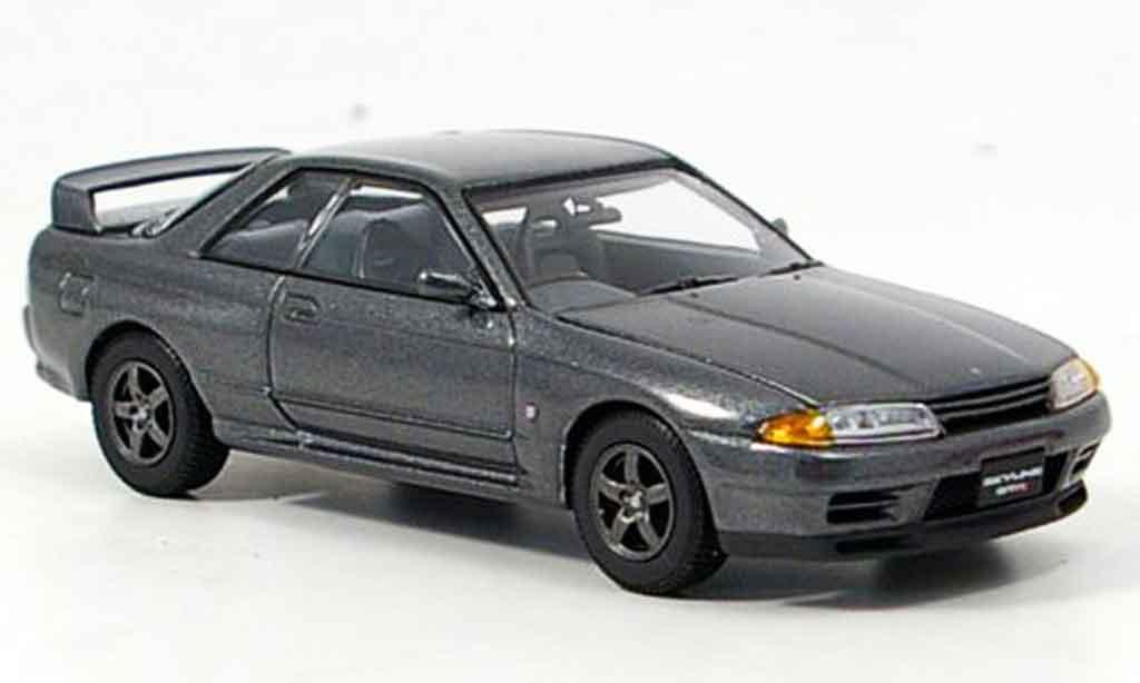 Nissan Skyline R32 1/43 Kyosho GTR grigia miniatura