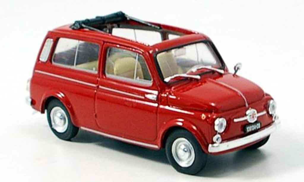Fiat 500 1/43 Brumm Giardiniera red 1960 diecast model cars