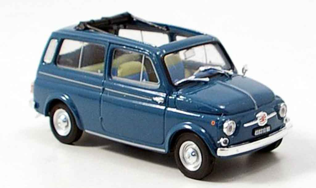 Fiat 500 1/43 Brumm Giardiniera bleu 1960 diecast model cars