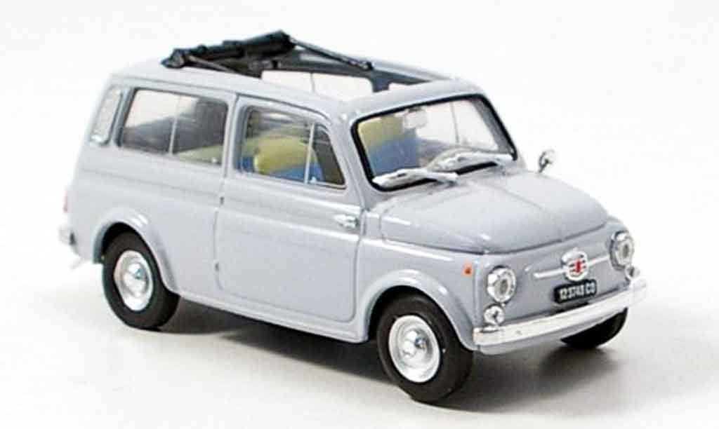 Fiat 500 1/43 Brumm Giardiniera gray 1960 diecast