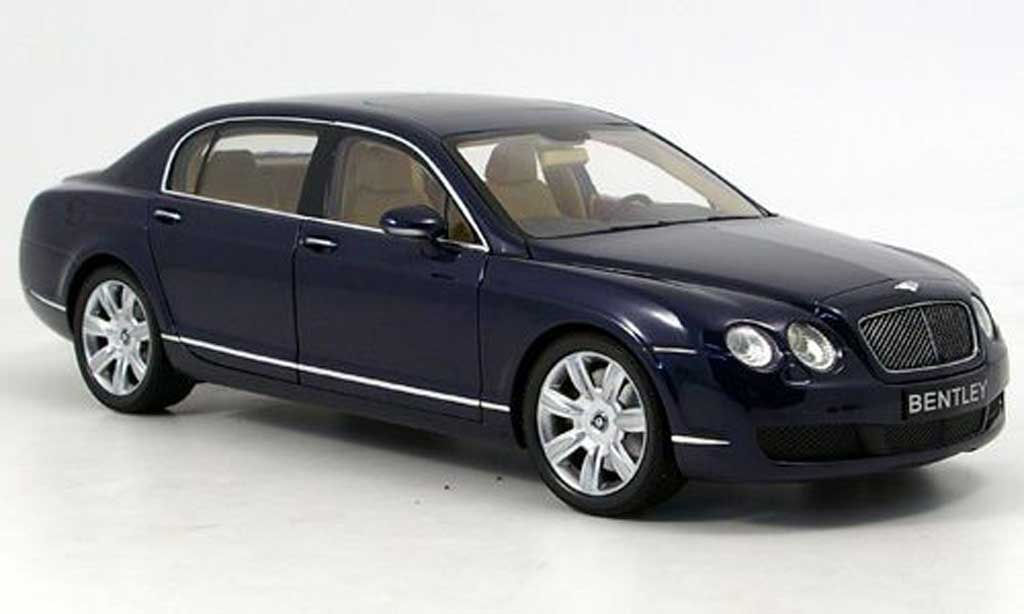 Bentley Continental Flying 1/18 Minichamps spur bleu 2006 miniatura