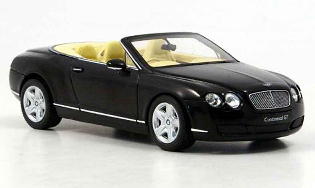 Bentley Continental GTC 1/43 Minichamps black 2006 diecast model cars