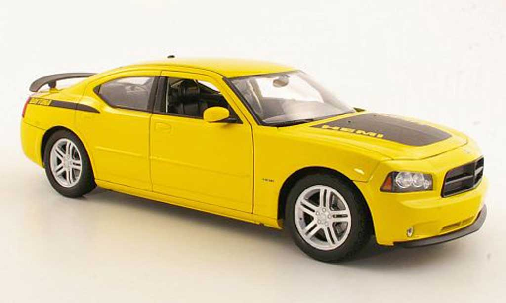Dodge Charger Daytona 1/18 Welly R/T yellow diecast