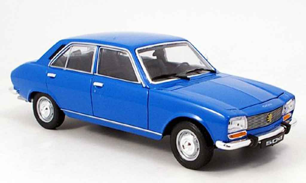 Peugeot 504 Berline 1/18 Welly bleu 1975 modellautos