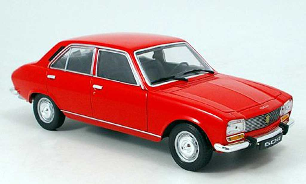 Peugeot 504 Berline 1/18 Welly red 1975 diecast