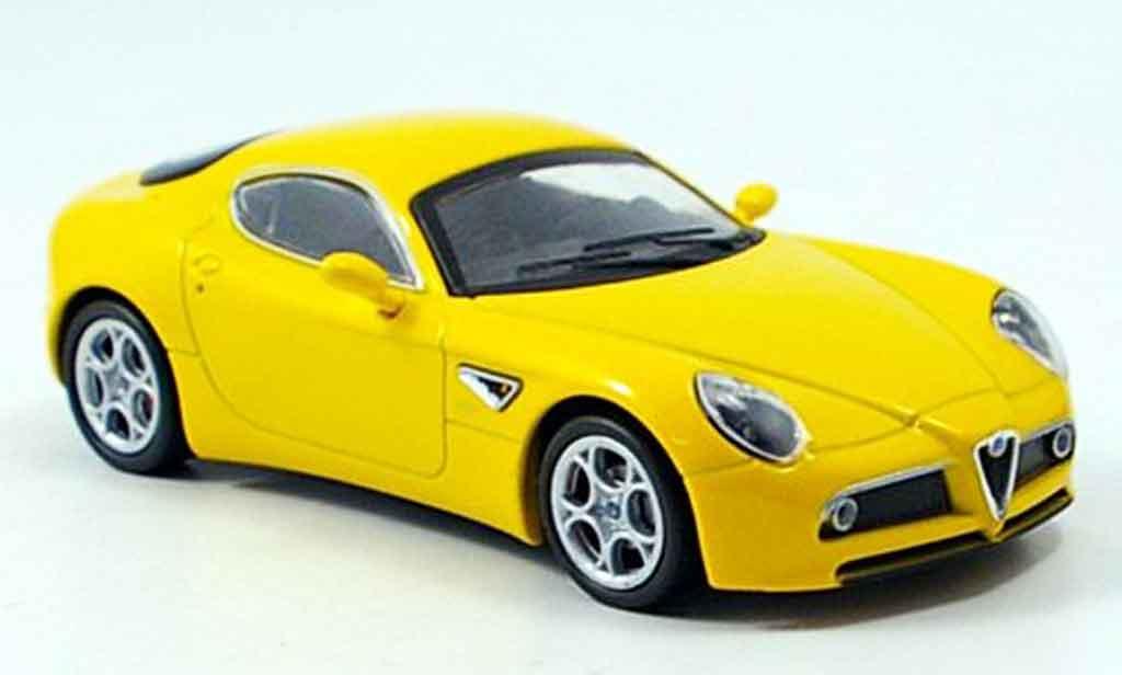 Alfa Romeo 8C Competizione 1/43 M4 yellow 2007 diecast