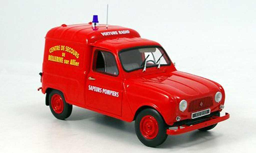 Renault 4 F4 1/18 Norev pompier frankreich 1965 diecast