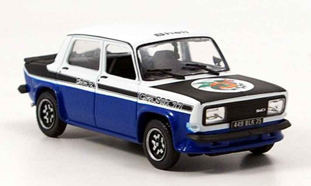 Simca 1000 1/43 Norev rallye 2 srt white/black 1977 diecast
