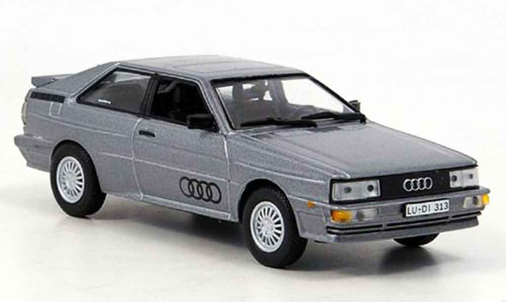 Audi Quattro 1/43 Norev grey metallisee 1986 diecast model cars