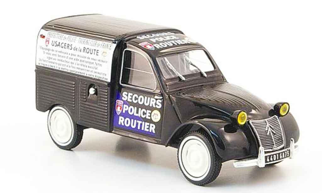 Citroen 2CV 1/43 IXO kastenente secours police routier miniature