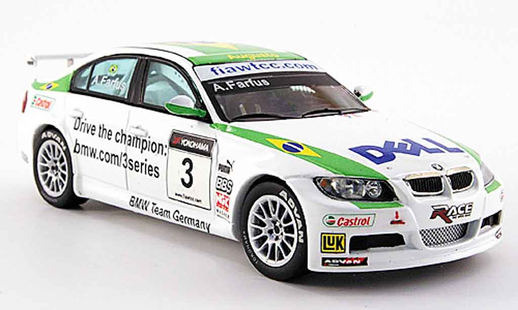 Bmw 320 E90 1/43 Spark si No.3 A.Farfus WTCC 2007 diecast model cars