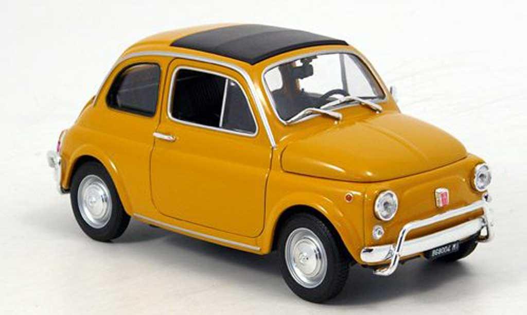 Fiat 500 1/18 Welly ocker 1957