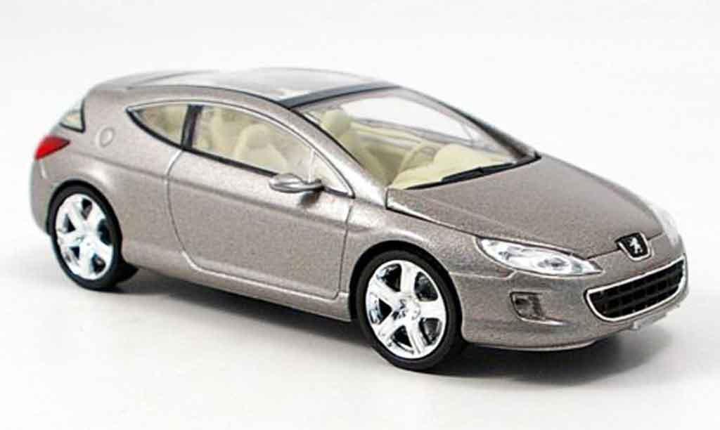 Peugeot 407 Elixir 1/43 Norev grise concept miniature