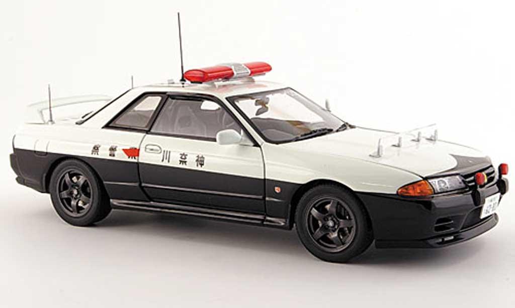 Nissan Skyline R32 1/18 Autoart gtr polizei miniatura