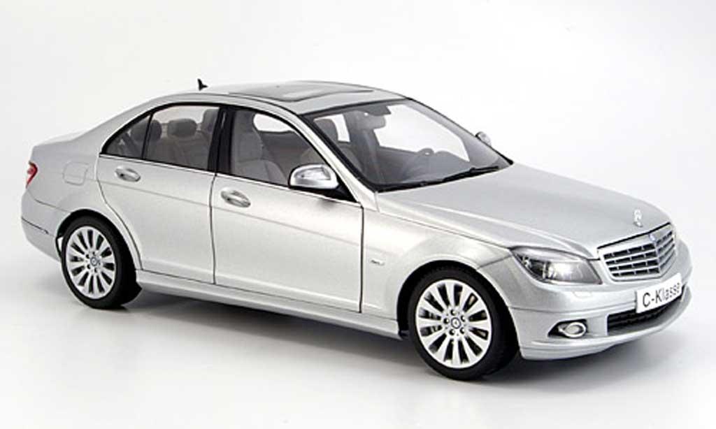 Mercedes Classe C 1/18 Autoart berline (w 204) elegance grise miniature