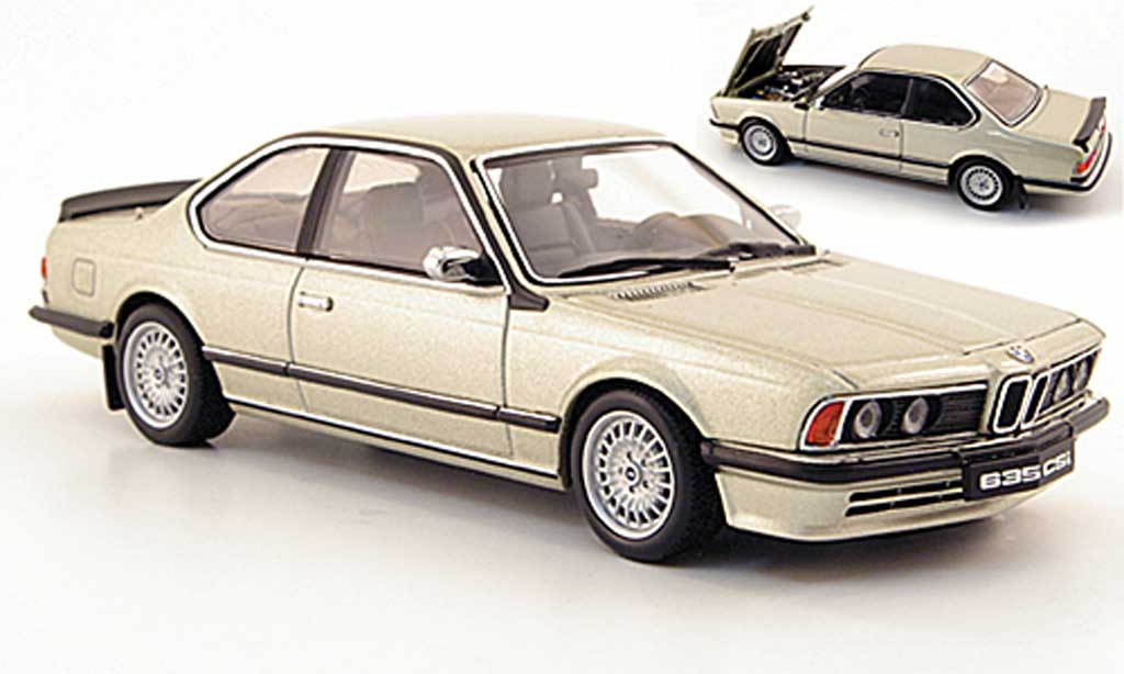 Bmw 635 CSI 1/43 Autoart beige diecast model cars
