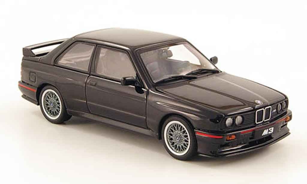 Bmw M3 E30 1/43 Autoart Evolution black 1990 diecast
