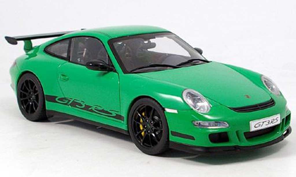 Porsche 997 GT3 RS 2006 1/18 Autoart verte/noire miniature