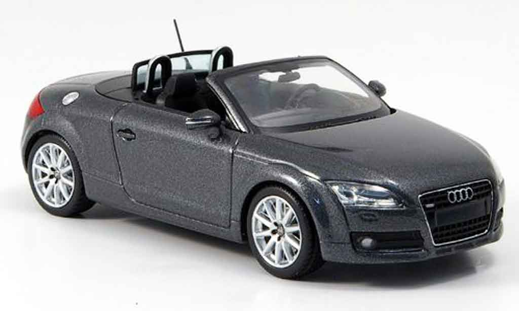 Audi TT Roadster 1/43 Minichamps grise 2007 miniature