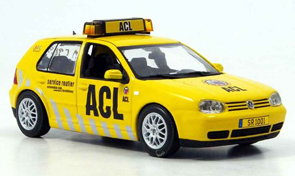 Volkswagen Golf IV 1/43 Minichamps acl automobile club luxemburg miniature