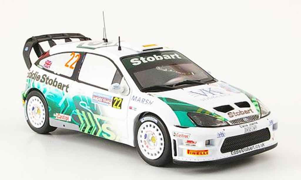 Ford Focus RS WRC 1/43 IXO No.22 Higgins Agnew Rally Italien 2005 miniature