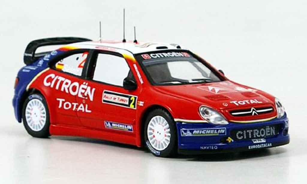 Citroen Xsara WRC 2005 1/43 IXO no.2 sainz marti rallye turkei miniature