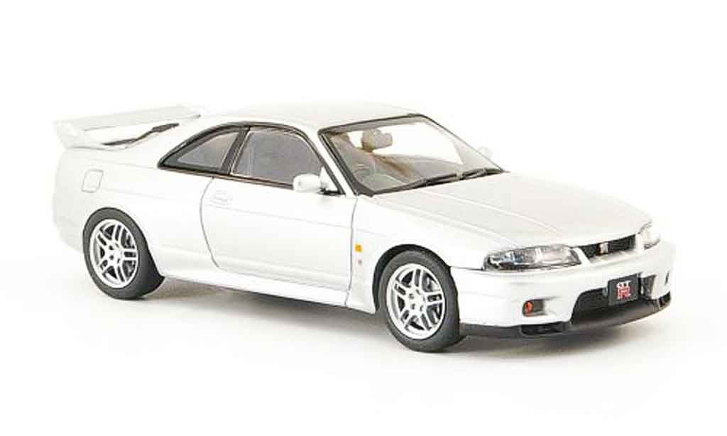 Nissan Skyline R33 1/43 Ebbro GT R V Spec grey metallisee 1995 diecast model cars