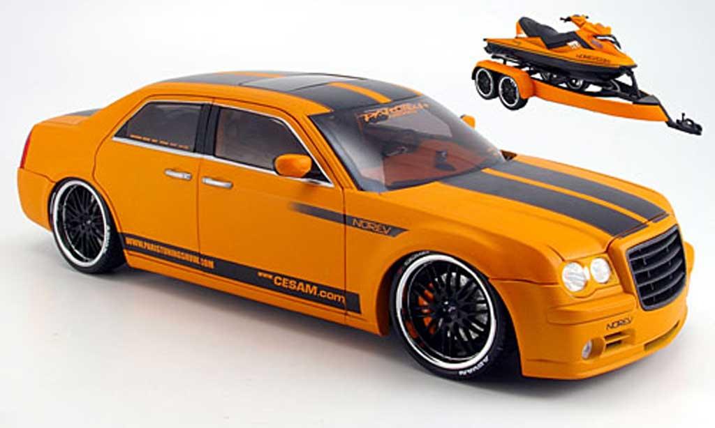 Chrysler 300C 1/18 Norev parougeech by norev mit anhanger +jetski 2007 miniature