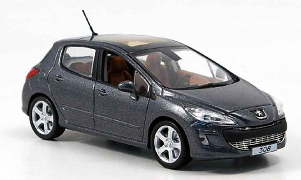 Peugeot 308 1/43 Norev feline 5 portes gray 2007 diecast