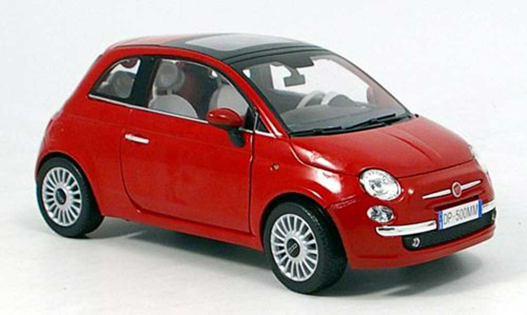 Fiat 500 1/18 Mondo Motors New red 2007 diecast