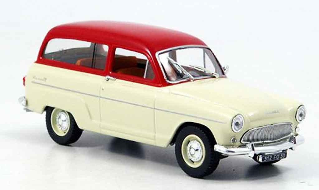 Simca P 60 1/43 Norev ranch beige/ red 1961 diecast