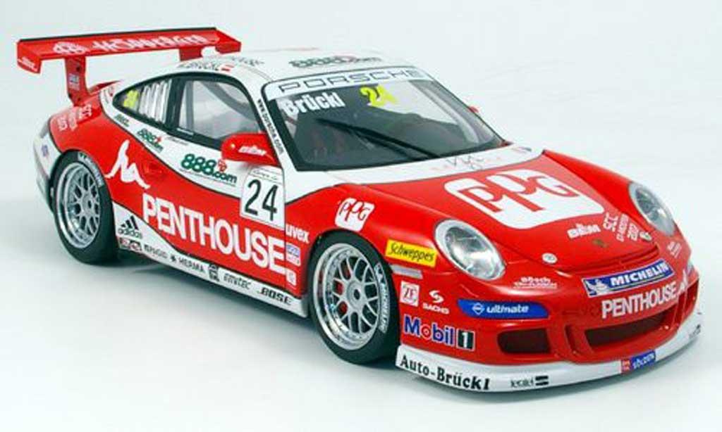 Porsche 997 GT3 Cup 2007 1/18 Autoart no.24 penthouse miniature