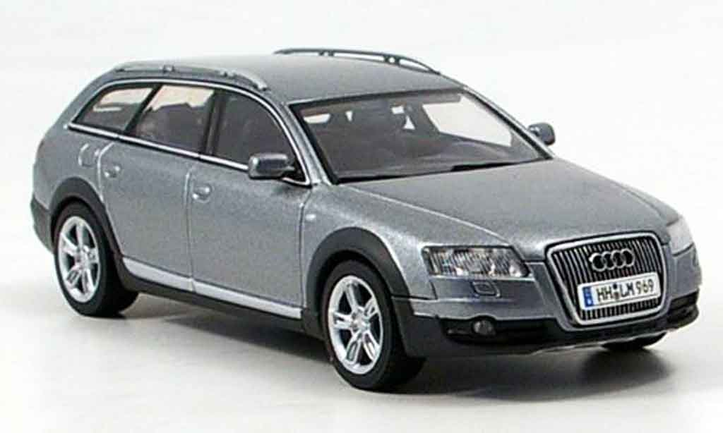 Audi A6 Allroad 1/43 Autoart quattro grise metallisee miniature