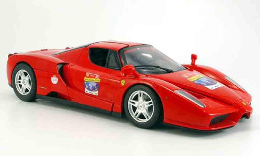 Ferrari Enzo 1/18 Hot Wheels red 60th anniversary diecast model cars