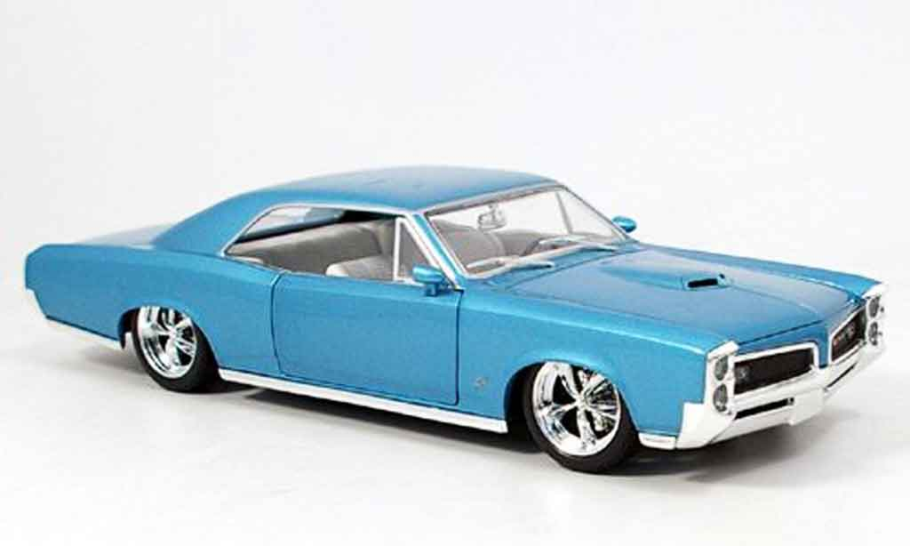 Pontiac GTO 1/18 Hot Wheels bleu 1966 miniature