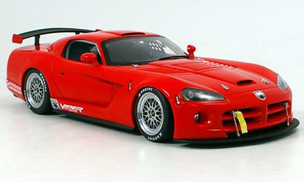Dodge Viper Competition 1/18 Autoart car plain body red 2004 diecast