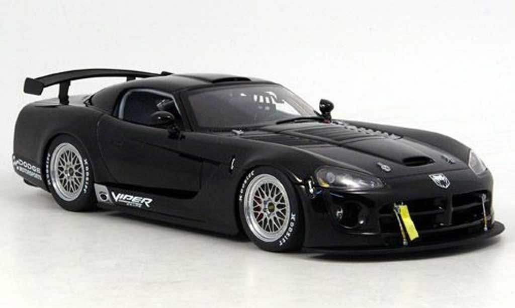Dodge Viper Competition 1/18 Autoart car plain body noire 2004 miniature