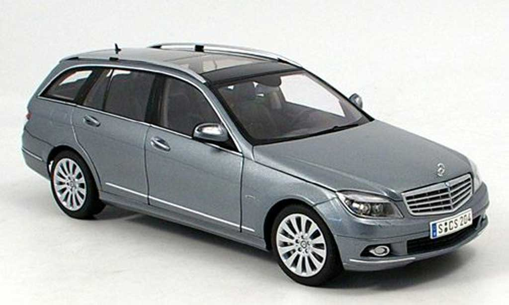Mercedes Classe C 1/18 Autoart elegance t-modell grise miniature