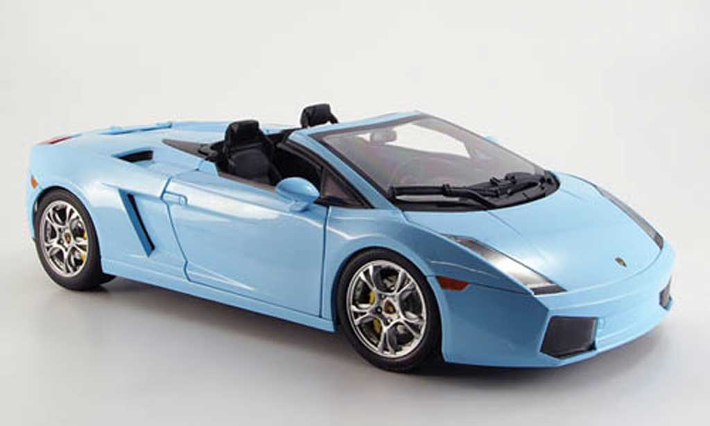 Lamborghini Gallardo Spyder 1/18 Norev bleu 2006 diecast