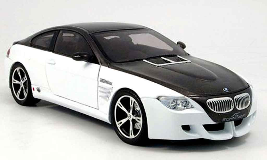 Bmw M6 E63 1/18 Norev ac schnitzer black/white 2007 diecast model cars