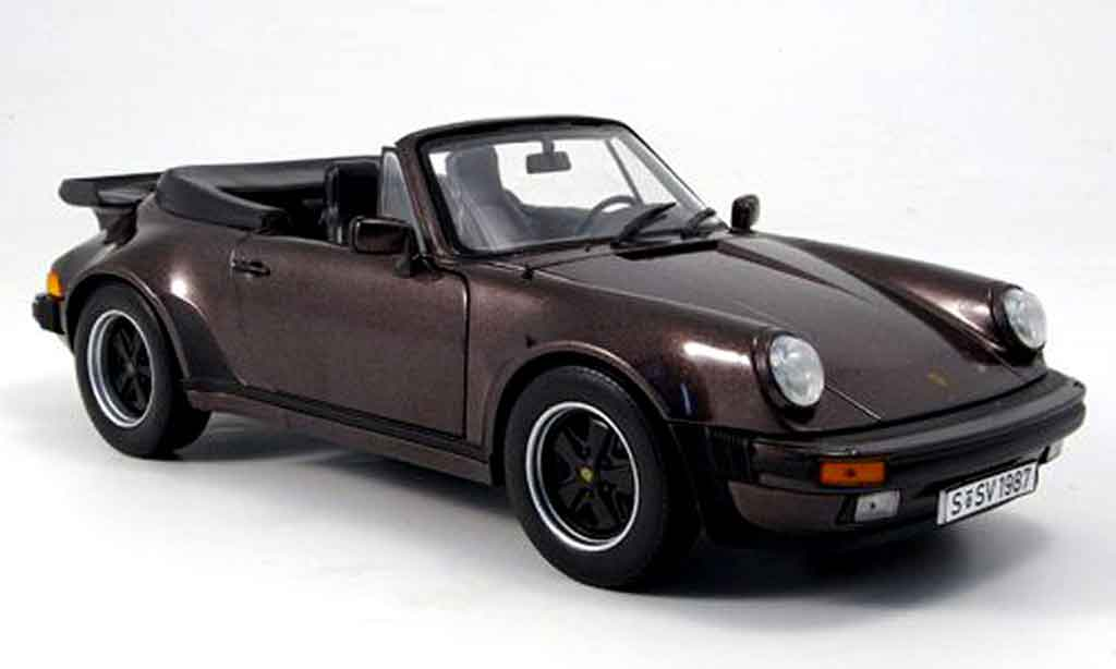 Porsche 930 Turbo 1/18 Norev 3.3l cabriolet marron 1987 miniature
