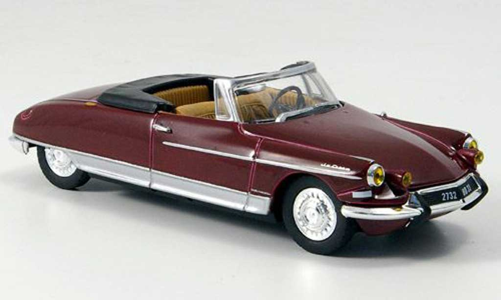 Citroen DS 19 1/43 Norev Chapron rouge Le Caddy 63