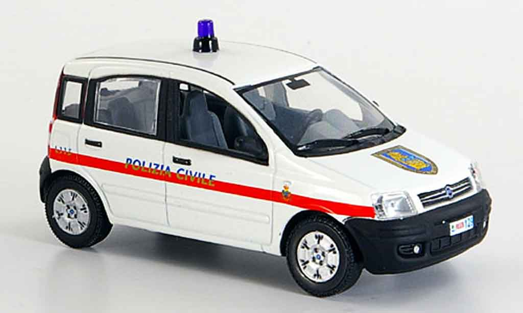 Fiat Panda 1/43 Norev police Frankreich 2004 miniature
