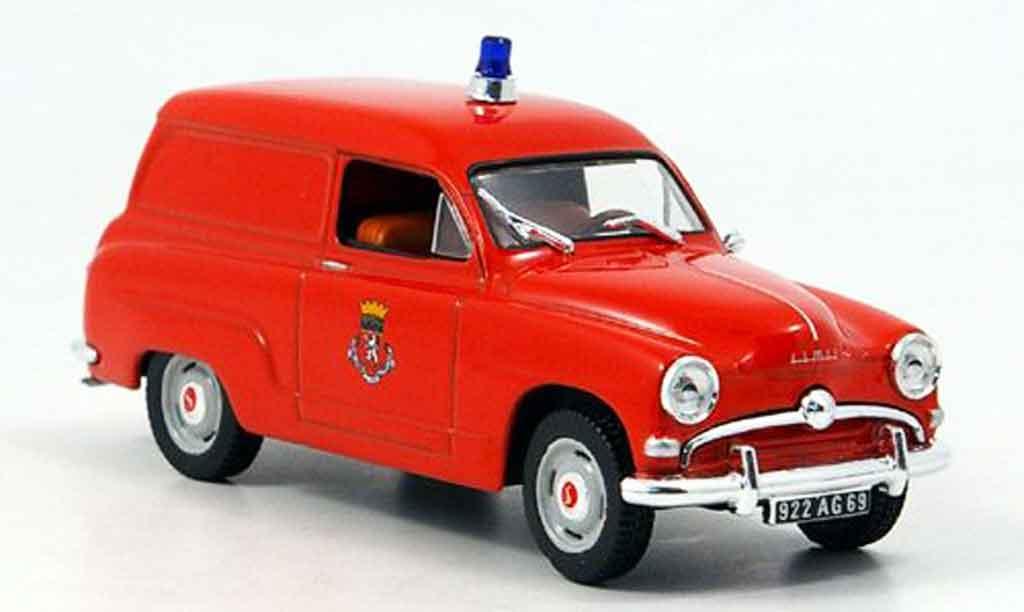 Simca Aronde 1/43 Norev lieferwagen pompiers diecast
