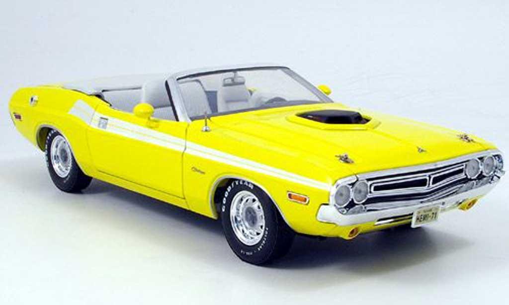 Dodge Challenger 1971 1/18 Greenlight convertible jaune miniature