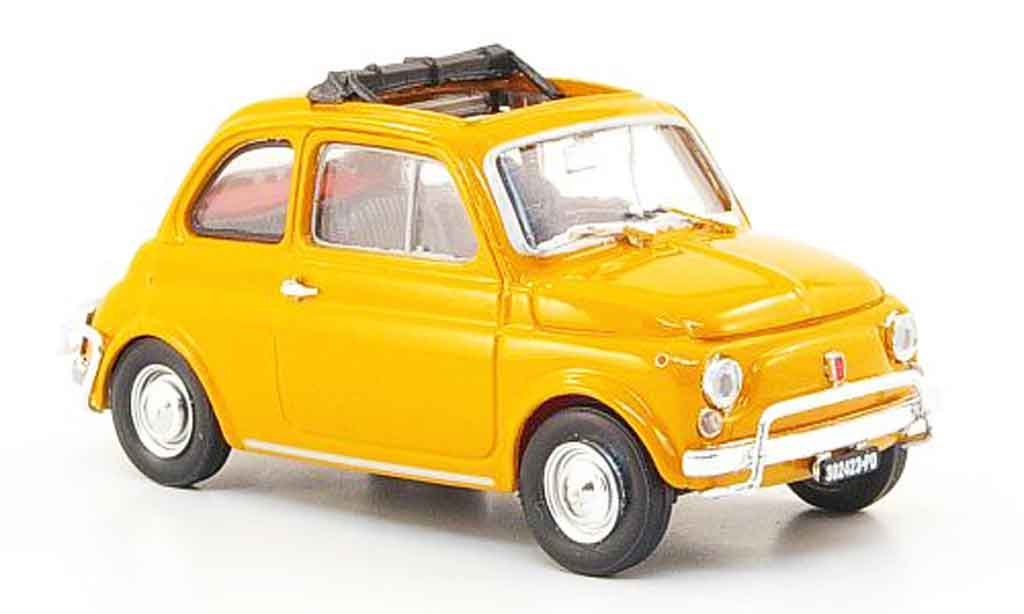 Fiat 500 1/43 Brumm L orange 1968 miniature