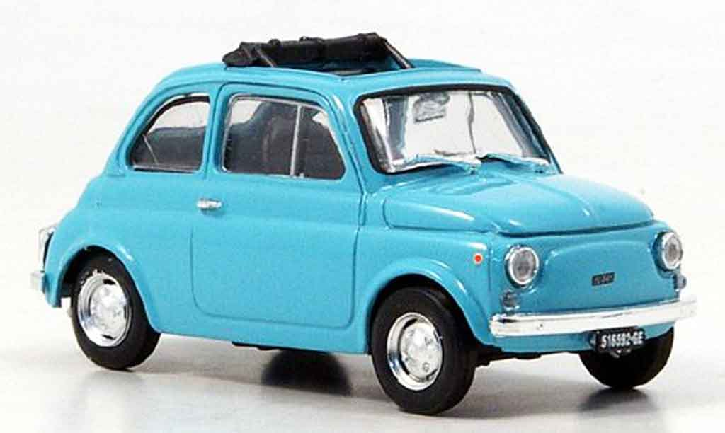 Fiat 500 1/43 Brumm R bleu 1972 diecast