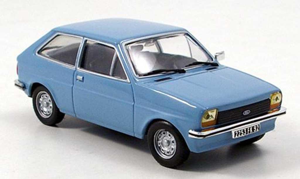 Ford Fiesta 1976 1/43 Hachette MK I grisebleu miniature