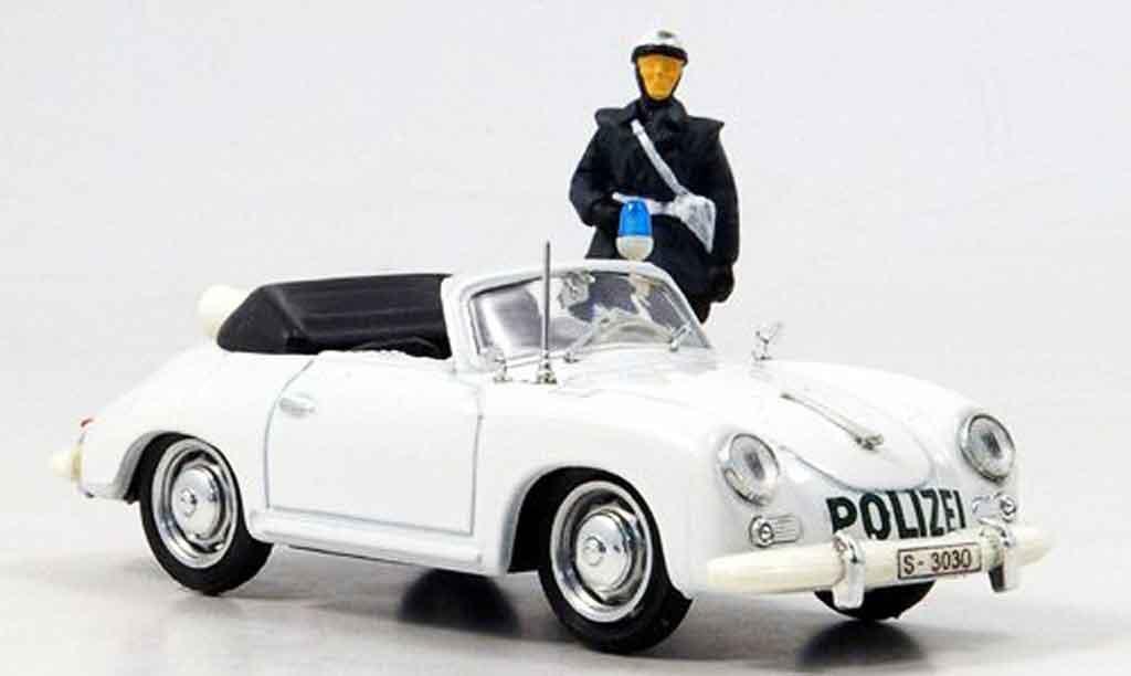 Porsche 356 1952 1/43 Brumm police Deutschland avec Figur miniature